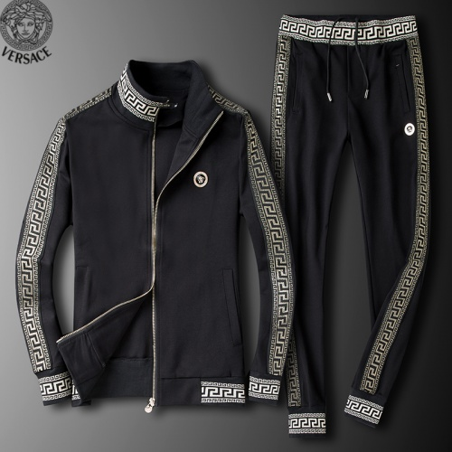Versace Tracksuits Long Sleeved Zipper For Men #789402