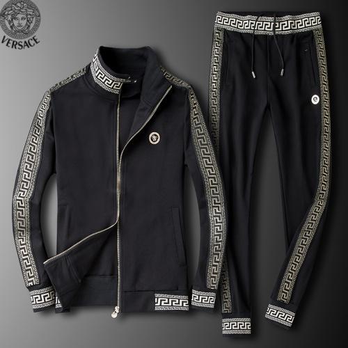 Versace Tracksuits Long Sleeved Zipper For Men #789402