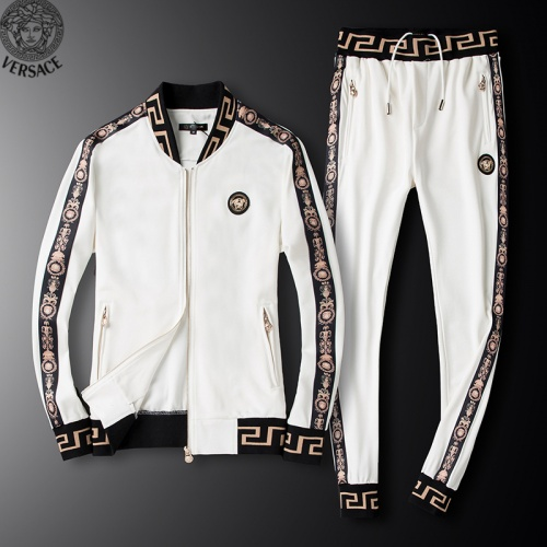 Versace Tracksuits Long Sleeved Zipper For Men #789403