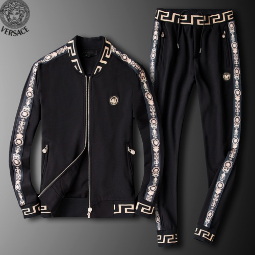 Versace Tracksuits Long Sleeved Zipper For Men #789404 $95.06 USD, Wholesale Replica Versace Tracksuits
