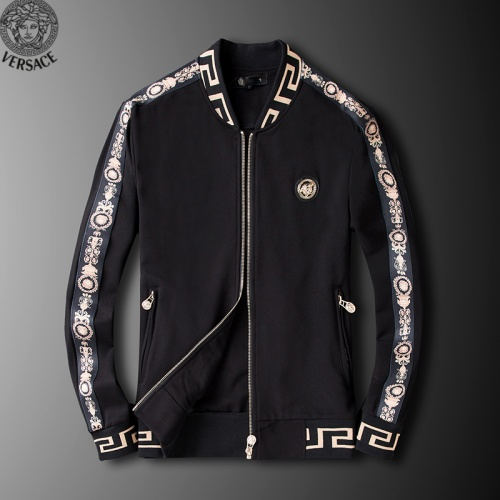 Replica Versace Tracksuits Long Sleeved Zipper For Men #789404 $95.06 USD for Wholesale
