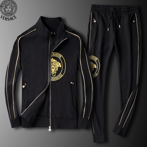 Versace Tracksuits Long Sleeved Zipper For Men #789405