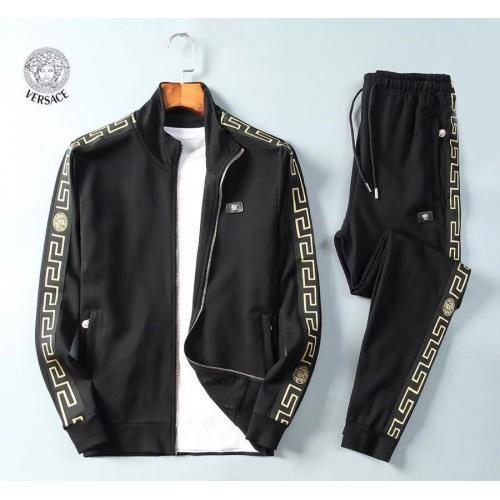 Versace Tracksuits Long Sleeved Zipper For Men #789406
