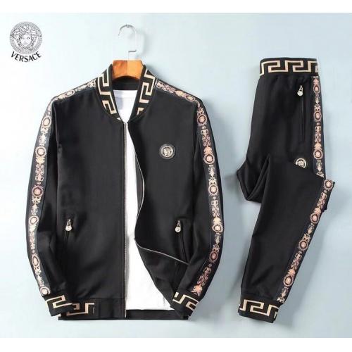 Versace Tracksuits Long Sleeved Zipper For Men #789407