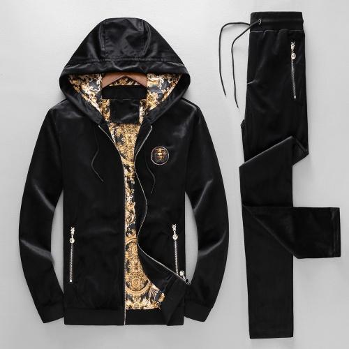 Versace Tracksuits Long Sleeved Zipper For Men #789409