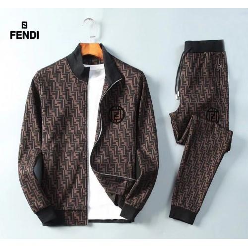 Fendi Tracksuits Long Sleeved Zipper For Men #789410