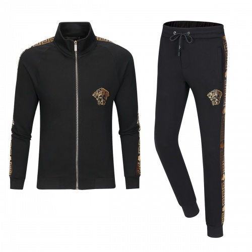 Versace Tracksuits Long Sleeved Zipper For Men #789429