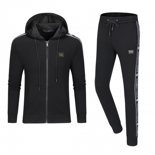 Dolce & Gabbana D&G Tracksuits Long Sleeved Zipper For Men #789431