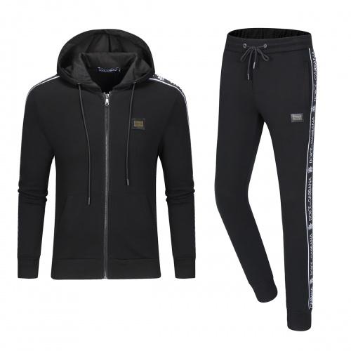 Dolce & Gabbana D&G Tracksuits Long Sleeved Zipper For Men #789431