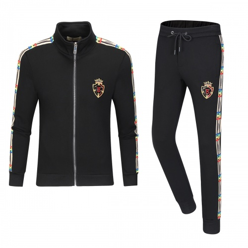 Burberry Tracksuits Long Sleeved Zipper For Men #789435