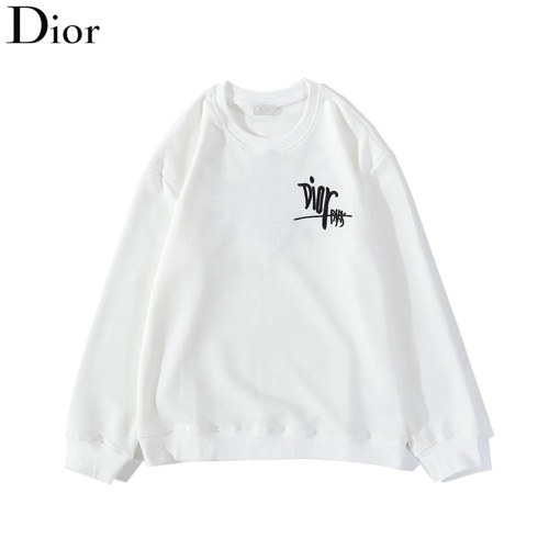 Replica Christian Dior Hoodies Long Sleeved O-Neck For Men #789455 $37.83 USD for Wholesale