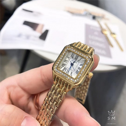 Cartier Watches In 28mm For Women #789504 $23.28, Wholesale Replica Cartier Watches