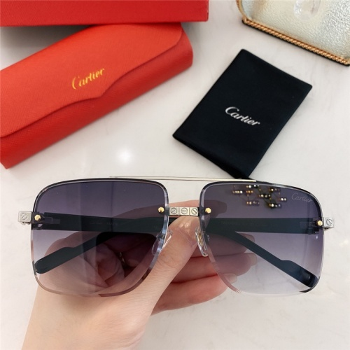 Cartier AAA Quality Sunglasses #789917