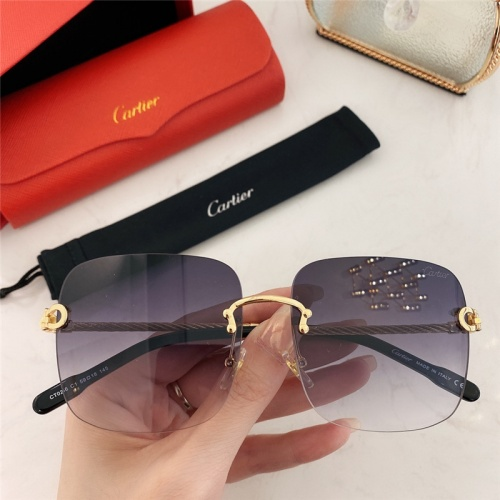 Cartier AAA Quality Sunglasses #789934