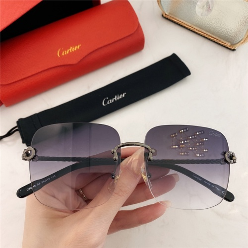 Cartier AAA Quality Sunglasses #789936