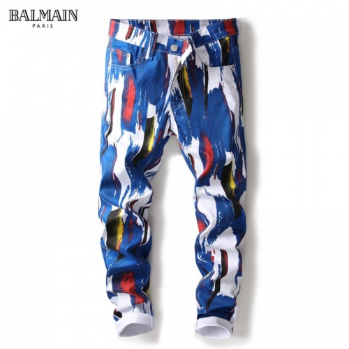 Balmain Jeans Trousers For Men #790791 $46.56, Wholesale Replica Balmain Jeans