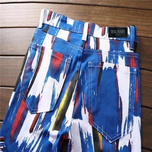 Replica Balmain Jeans Trousers For Men #790791 $46.56 USD for Wholesale