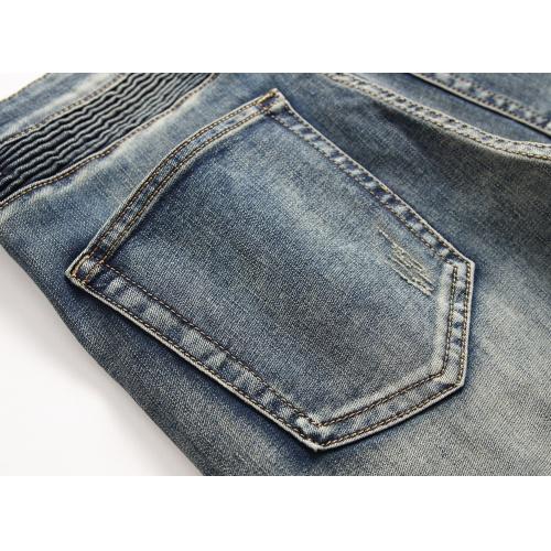 Replica Balmain Jeans Trousers For Men #790792 $46.56 USD for Wholesale