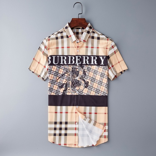 Burberry Shirts Short Sleeved Polo For Men #790824 $34.92 USD, Wholesale Replica Burberry Shirts