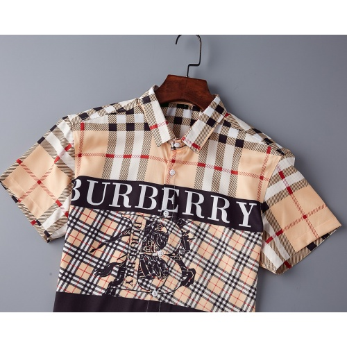 Replica Burberry Shirts Short Sleeved Polo For Men #790824 $34.92 USD for Wholesale