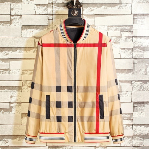Burberry Jackets Long Sleeved Zipper For Men #790837
