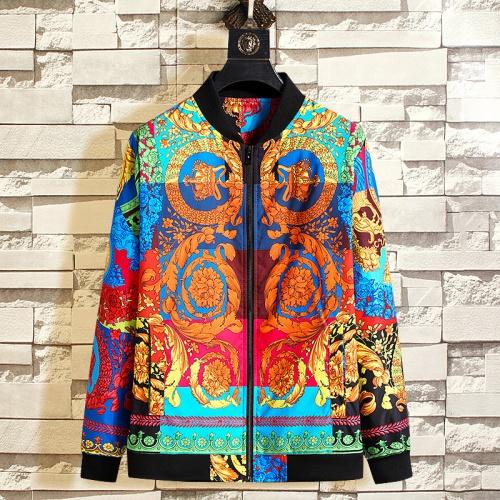 Versace Jackets Long Sleeved Zipper For Men #790848
