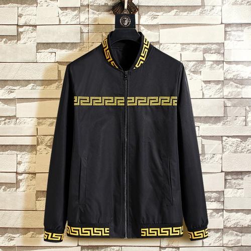 Versace Jackets Long Sleeved Zipper For Men #790849