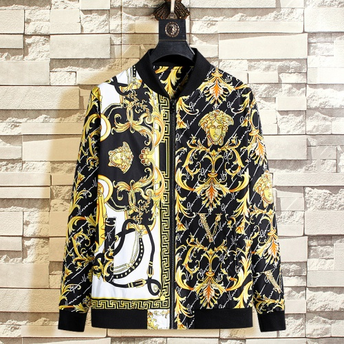 Versace Jackets Long Sleeved Zipper For Men #790850
