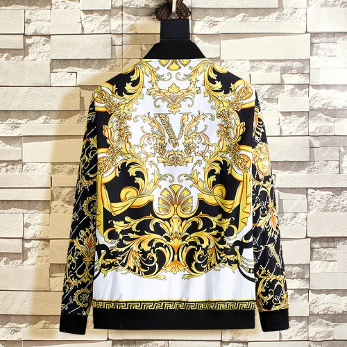 Replica Versace Jackets Long Sleeved Zipper For Men #790850 $50.44 USD for Wholesale