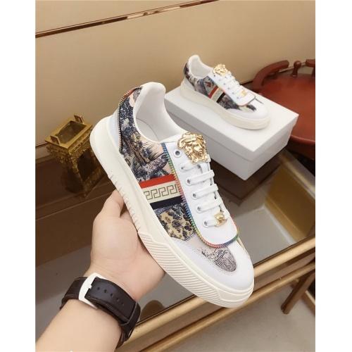 Versace Casual Shoes For Men #790877 $73.72, Wholesale Replica Versace Casual Shoes