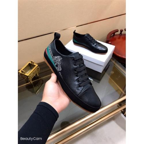 Versace Casual Shoes For Men #790881 $73.72, Wholesale Replica Versace Casual Shoes