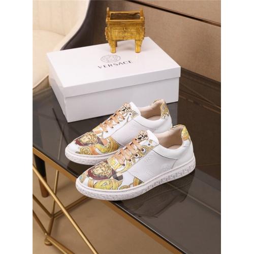 Versace Casual Shoes For Men #790883 $73.72, Wholesale Replica Versace Casual Shoes