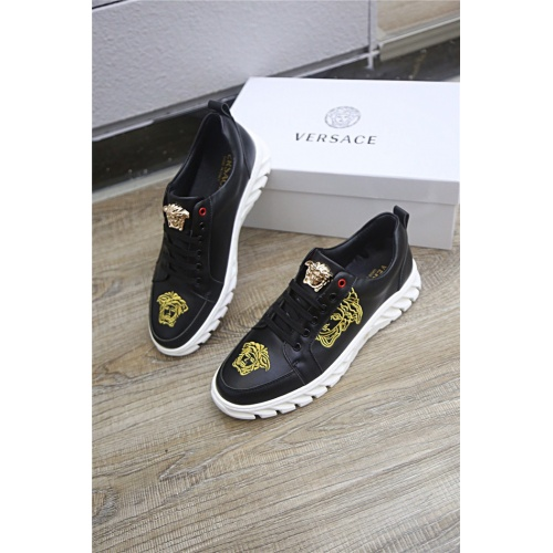 Versace Casual Shoes For Men #790895 $73.72, Wholesale Replica Versace Casual Shoes