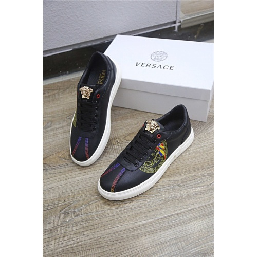 Versace Casual Shoes For Men #790897 $77.60, Wholesale Replica Versace Casual Shoes