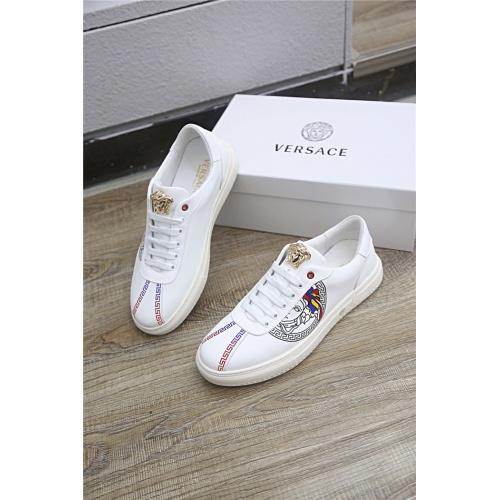 Versace Casual Shoes For Men #790898 $77.60, Wholesale Replica Versace Casual Shoes