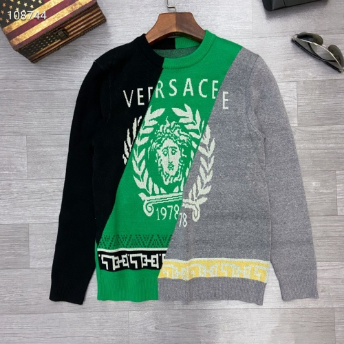Versace Sweaters Long Sleeved O-Neck For Men #791071 $46.56, Wholesale Replica Versace Sweaters