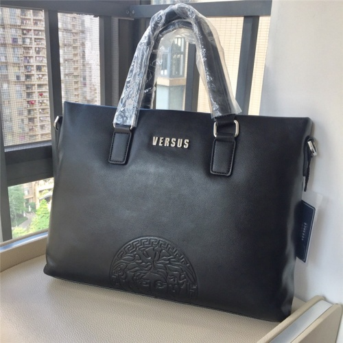 Replica Versace AAA Man Handbags #791099 $111.55 USD for Wholesale