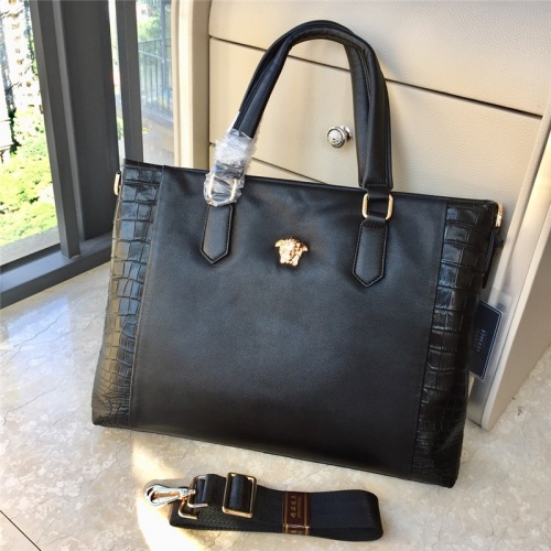 Versace AAA Man Handbags #791100 $111.55, Wholesale Replica Versace AAA Man Handbags