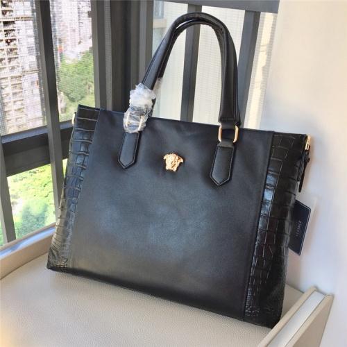 Replica Versace AAA Man Handbags #791100 $111.55 USD for Wholesale