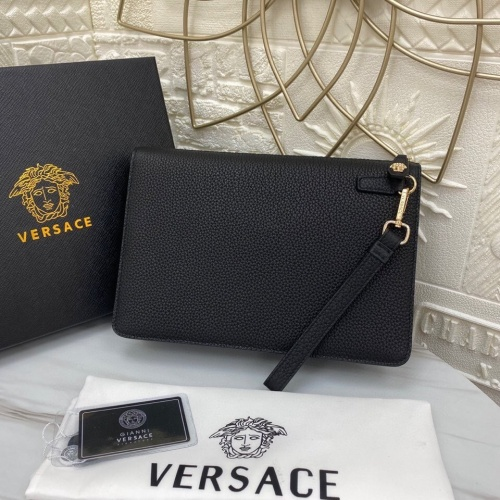 Replica Versace AAA Man Wallets #791297 $128.04 USD for Wholesale