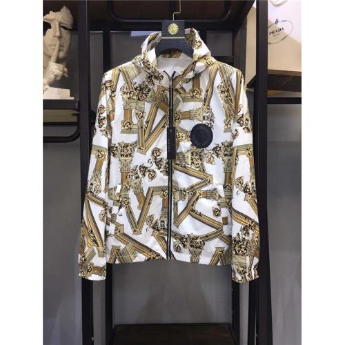 Versace Jackets Long Sleeved Zipper For Men #791504 $70.81, Wholesale Replica Versace Jackets