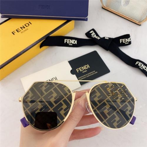 Fendi AAA Quality Sunglasses #791609 $59.17 USD, Wholesale Replica Fendi AAA Sunglasses
