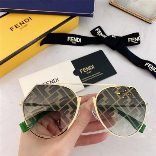 Fendi AAA Quality Sunglasses #791610 $59.17, Wholesale Replica Fendi AAA Sunglasses