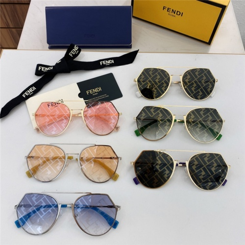Replica Fendi AAA Quality Sunglasses #791610 $59.17 USD for Wholesale