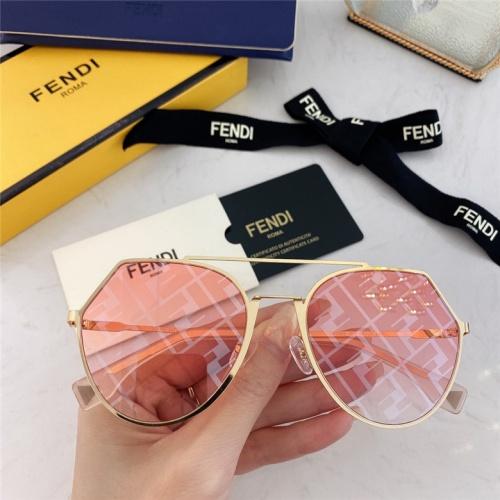 Fendi AAA Quality Sunglasses #791613 $59.17, Wholesale Replica Fendi AAA Sunglasses