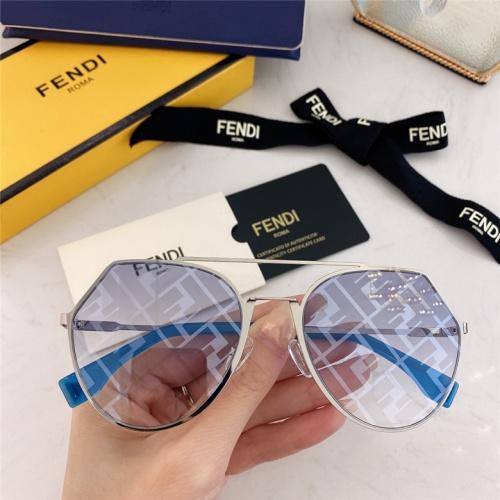 Fendi AAA Quality Sunglasses #791614 $59.17, Wholesale Replica Fendi AAA Sunglasses