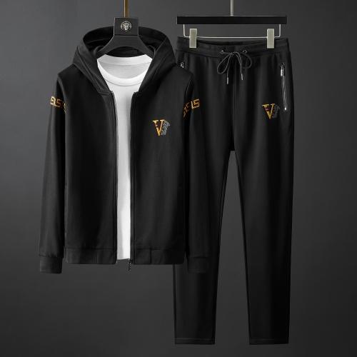 Versace Tracksuits Long Sleeved Zipper For Men #792018
