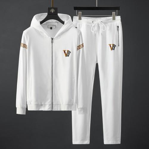 Versace Tracksuits Long Sleeved Zipper For Men #792021
