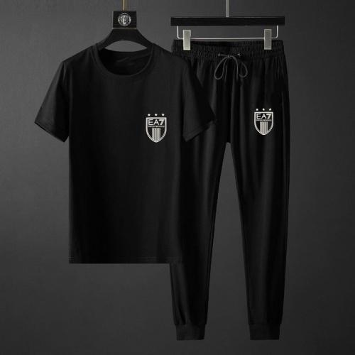 Armani Tracksuits Short Sleeved O-Neck For Men #792088