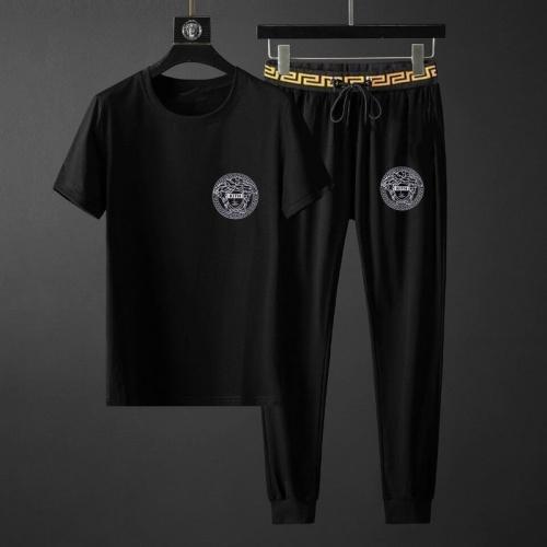 Versace Tracksuits Short Sleeved O-Neck For Men #792093